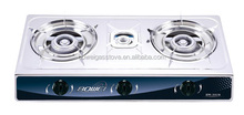 BW-3028 Wholesale Price India Three Burner Gas Stove Stainless Steel Portable Kitchen Rice Cooker