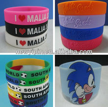 2015 Hot Sale Cusotm Silicone Bracelet for World Cup Competition,Events Celebration,Brand Promotion