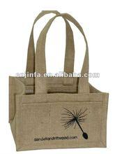 2012 popular cotton shopping bag for bottle holder