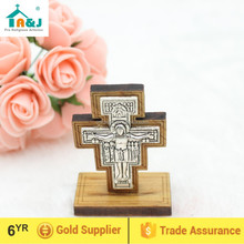 San Damiano Wooden Standing Cross,car stand wooden cross,stand crucifix