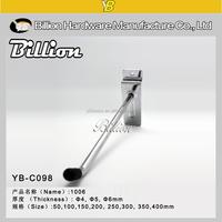 YB-C098 YIWU factory slatwall hanging display hook slatwall display hook metal chrome hook