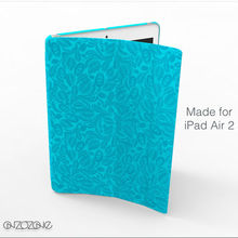 Stylish tablet cover leather case for iPad Air 2 with unique pattern