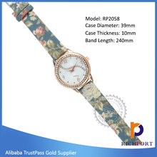 Low price dress watch ,Low price Customized Exporter PU Leather Wristband watch ,printing watch