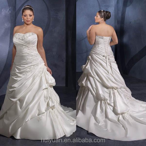 Super taffeta sweetheart plus size wedding dresses for fat for Super plus size wedding dresses