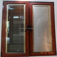 Multifunctional aluminum louver panel double glass window