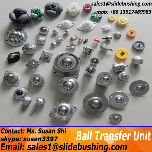 "2 Pieces Flange Mount 1/"" Ball Transfer Bearing Unit Conveyor Roller Wheel"