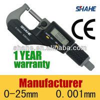 0-25mm 0.001mm electronic digital outside micrometer