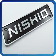 ABS Car Logo Name Sticker With Chrome Plate