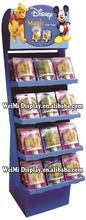potato chip display stand ,4 tier cardboard candy display rack/floor food display shelf /shop goods display stand,cookie display
