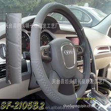 Grey With Seat Belts Racing Steering Wheel Covers