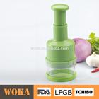 Plástico de alta qualidade impulso da mão triturador de cebola com lâmina de aço inoxidável