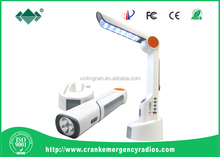 Indoor Light and Lamp Powered By Solar&Crank Dynamo&USB Port
