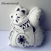 Irregular pillow plush animal pillows car neck cute Squirrel children's toys, puppets pillow DIY Christmas gift Pillow BZ138