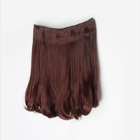Fashion 5 Clips-on Synthetic Hair Extension Hairpiece 7 Colors