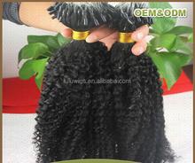 Top grade virgin brazilian kinky curly micro bead hair extension
