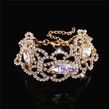 Fashion bracelet with clear crystals Gold bracelet& Bangle
