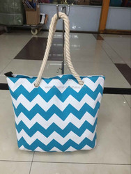 Wholesale Monogram Canvas Rope Handle Chevron Chevron Tote Bag