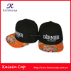 Custom Floral Pattern Flat Brim Acrylic Fabric Snap Back Caps And Hats With Custom 3D Embroidered Logo For Summer