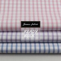 James High Quality/Density 100%Cotton Yarn Dyed LA Finished Dobby Check/Plaid Dress & Shirting Fabric
