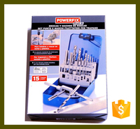 15pc tap drill set tools kit OEM supplier of Powerfix / Lidl Deutschland