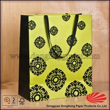 Custom twisted handles brand craft color paper bag for shopping and packaging