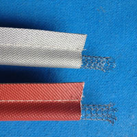High quality with steel wire inside insulation protective glass fiber silicone rubber coated tape