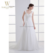 China lace and chiffon wedding dresses for pregnant brides for big women