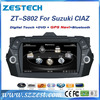 ZESTECH factory 8 inch double din car gps for Suzuki CIAZ touch screen with gps +3G+BLUTOOTH +AM/FM+USB/SD + A/V In/out
