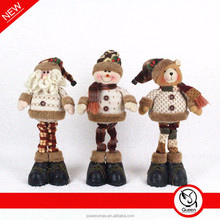 """hotel christmas decorations with 14"""" standing santa snowman"""