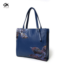 Alibaba china supplier fashion Europe style women leather tote bag