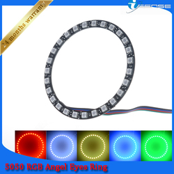 4x DC 12v yellow light LED auto angel eyes colour change 80mm 90mm 100mm auto parts