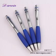 Retractable Metal Rubber High Quality Click Pen