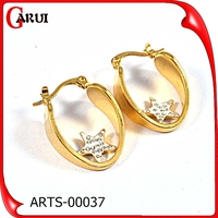 clip clip on stud earrings for weeding zircon star large gold nickel free hoop earrings