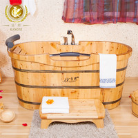 kx-26 wooden shower bathtub with comfortable wooden seat from China