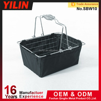 Wire shopping baskets with cloth cover