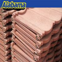 All goods be checked before delivery natural stone coated steel roof tile, modern house stone coated metal roof tile
