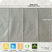Stock Printed/Dyed Raw Silk Jacquard Fabric Dot Design TL40616-TL235#