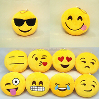 iPhone Emoji Smiley Emoticon Yellow Pillow Plush Emoji Keychains