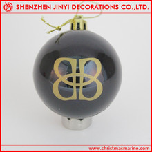 2015 pretty and clear Plastic Christmas Balls with logo, Christmas Balls logo