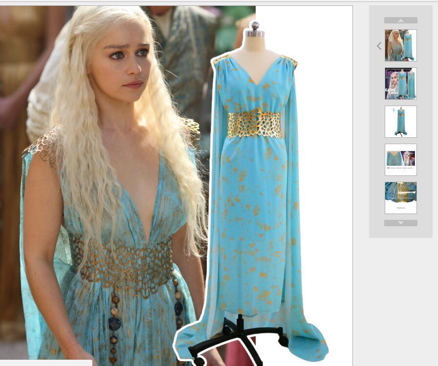 Ecoparty Halloween Game Of Thrones Cosplay Daenerys Targaryen Qarth ...
