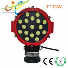 LED Lights 7Inch Round 51 Watt Super LED Working Light 3600 Lemun ATV UTV Off Road 4x4