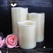 2015 wholesale luminous moving wick candles,paraffin wax LED candles light with vanilla scents