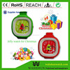 Fashion more various style dial color soft promotion for Christmas gift jelly gift geneva watch