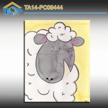 Decoration Sheep Image On Canvas