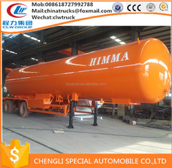 ADR ASME CLW 54000liters 3 axles lpg tank trailer price/ lpg gas