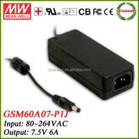 Meanwell GSM60A07-P1J medical power adapter