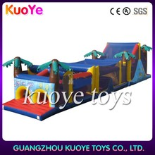 inflatable long obstacle course games,obstacle challenge course inflatable,china inflatable toys