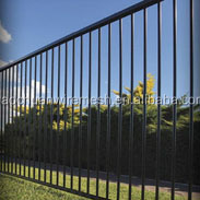 5 foot high by 7.8 foot long powder coated aluminum fencing for garden