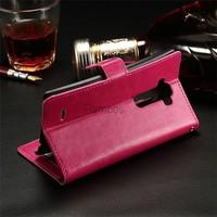 Mobile Phone Case PU Leather Flip Wallet Cover Case for LG G Flex 2 F510L/G4 / L Bello / Fino/ G3 mini