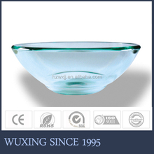 2015 hot selling cheap factory direct sale best price trans;ucent tranparent tempered glass basin ,glass sink for countertops